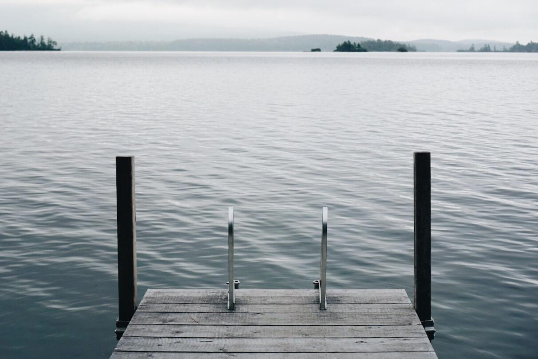 Squam Lake dock Rockywold Deephaven