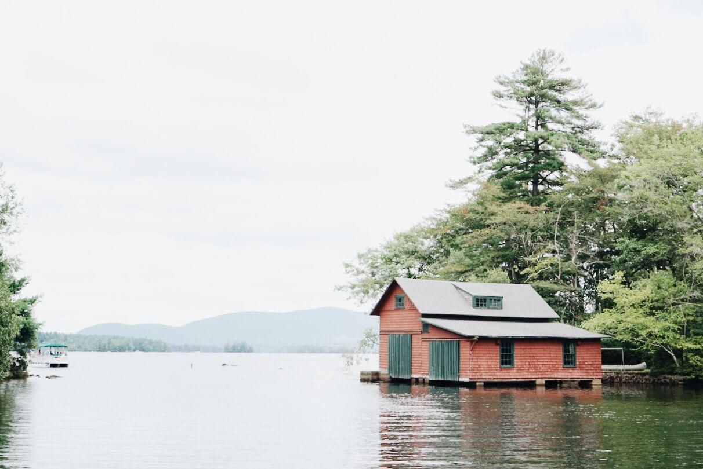 Covered dock on Squam