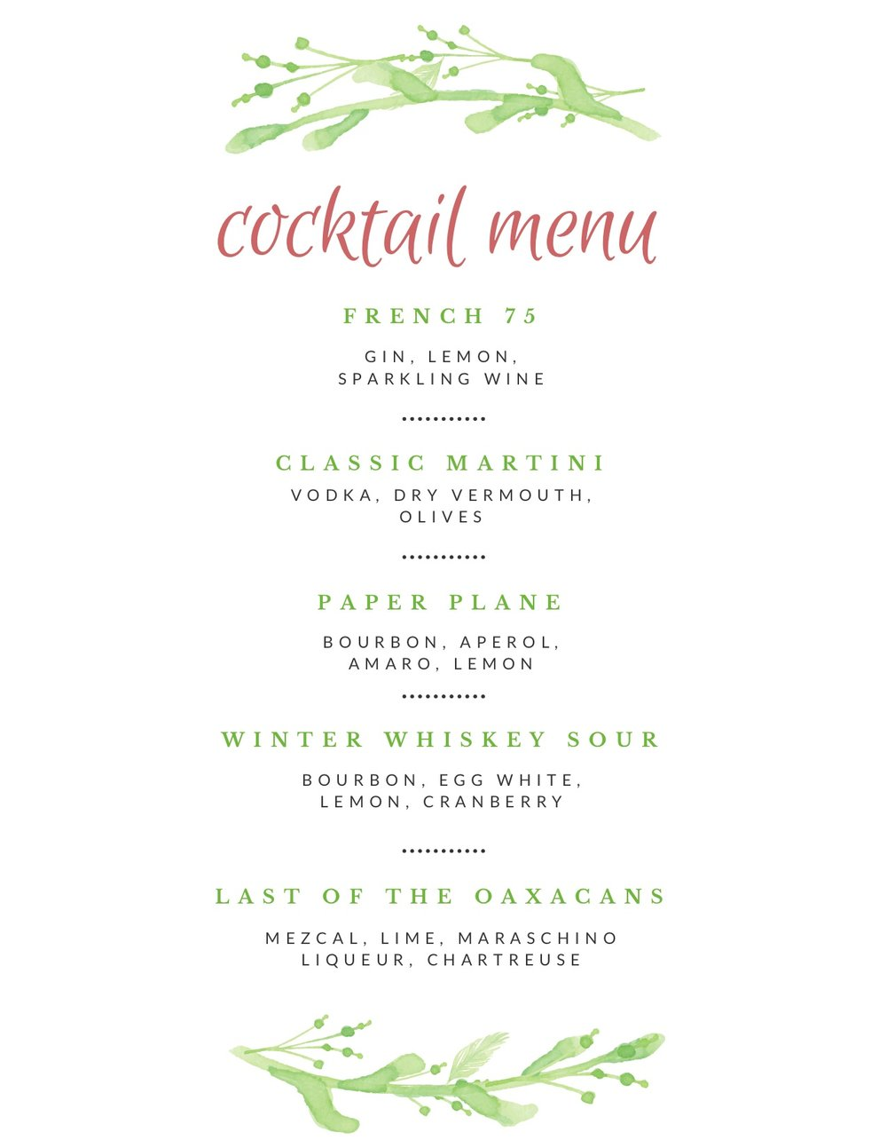A Step-by-Step Guide to Creating Your Own Cocktail Menu at Home Inside Cocktail Menu Template Word Free