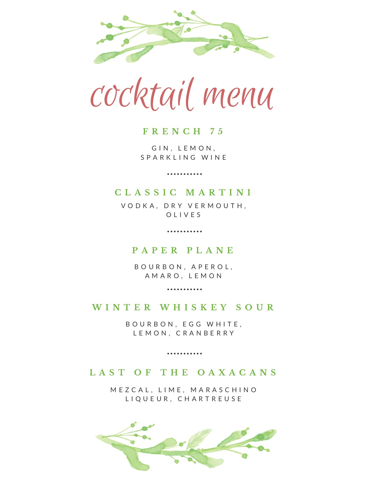 holiday-cocktail-menu