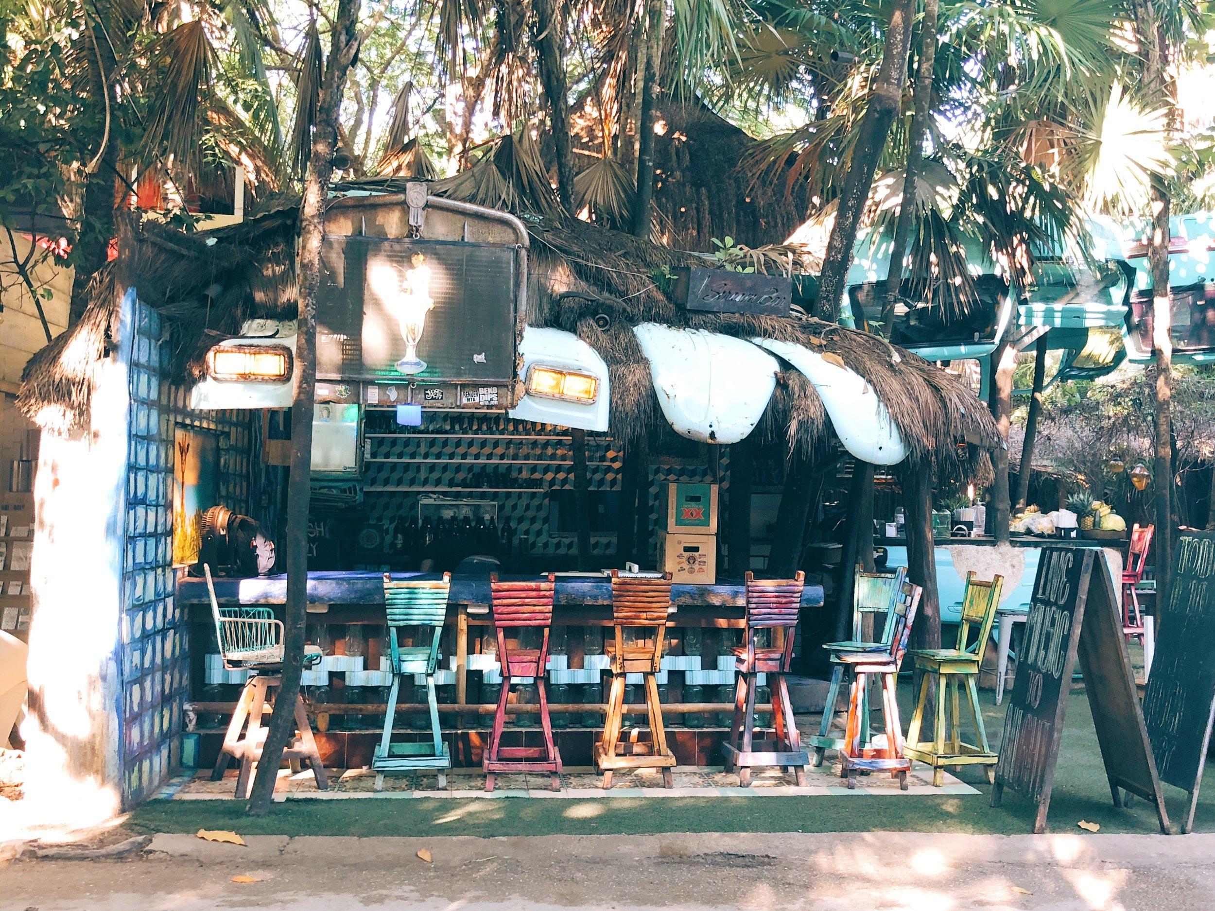 Tulum hotel zone cafe