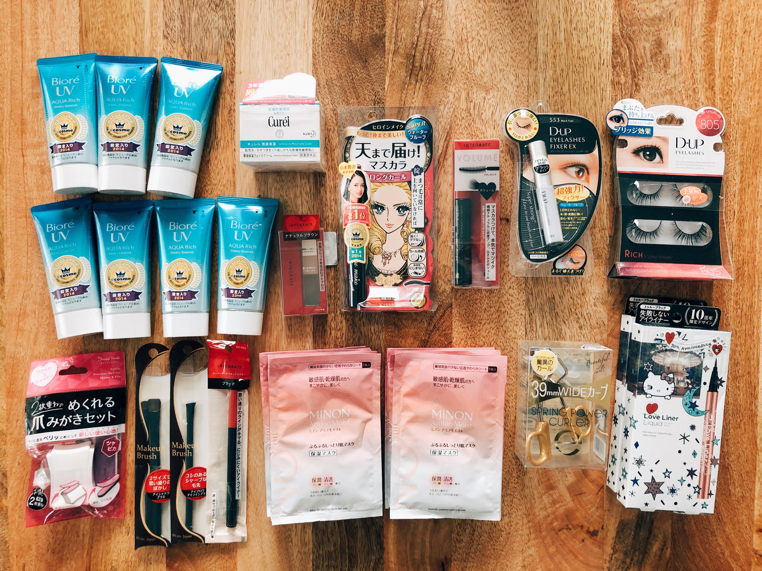 Japan drugstore beauty product haul