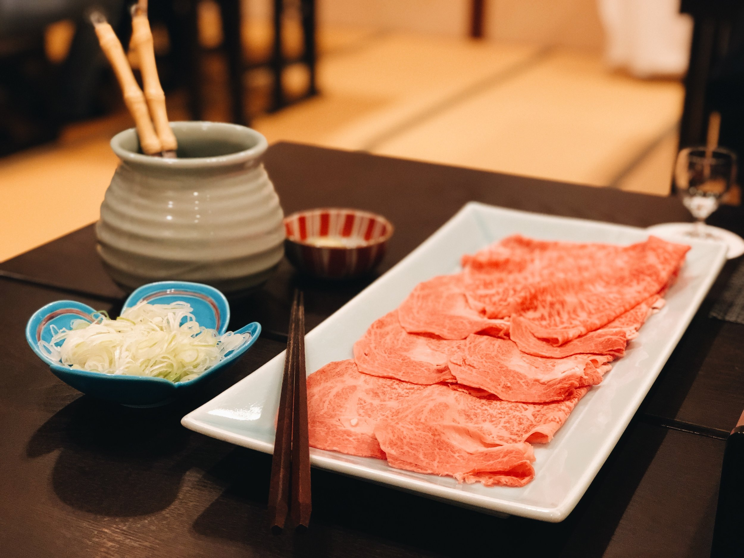 wagyu shabu shabu dinner Kozantei Ubuya
