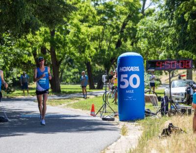 New 50 mile world best by Jim Walmsley. photo: Hoka ONE ONE