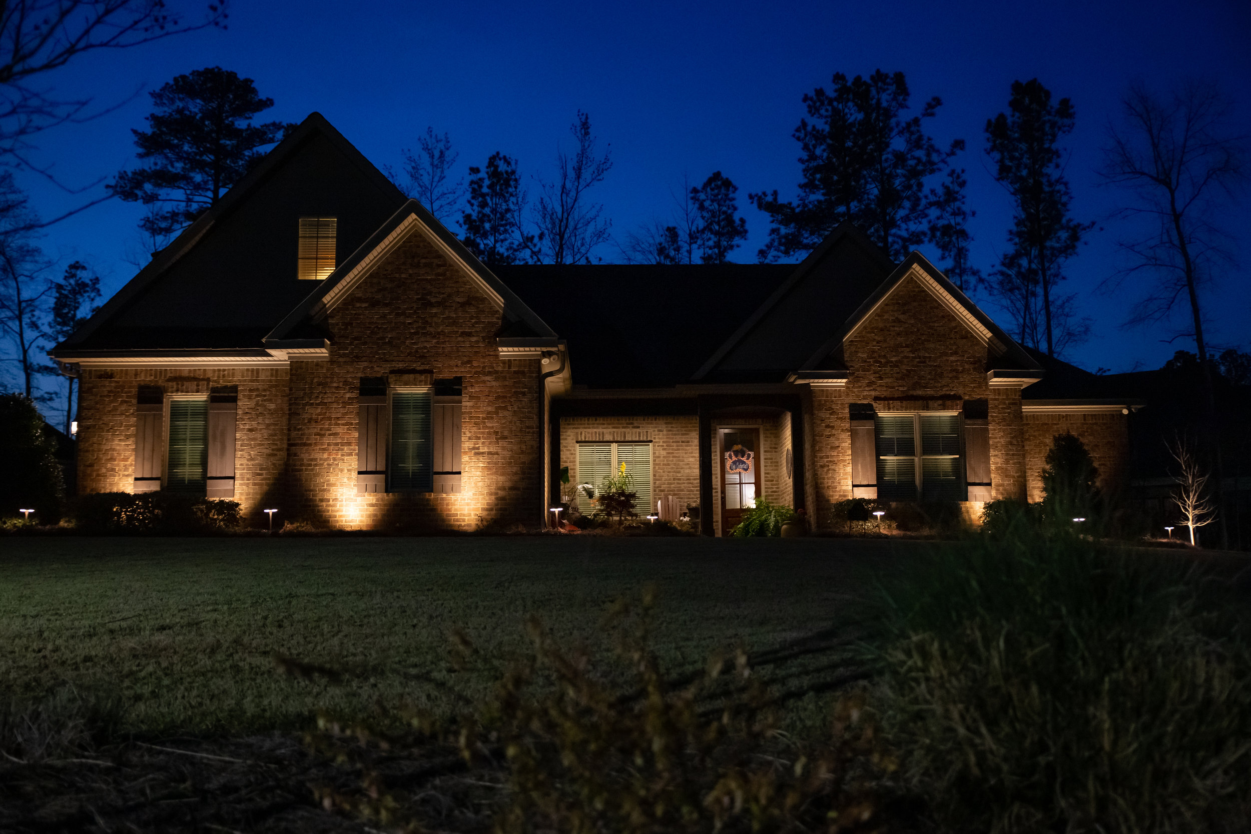 architectural lighting landscape lighting Auburn, Alabama