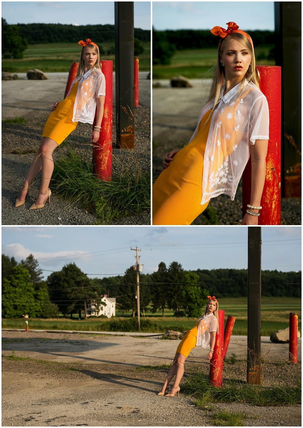 Gas Station High Fashion Photoshoot Pittsburgh Pennsylvania Thrift Style