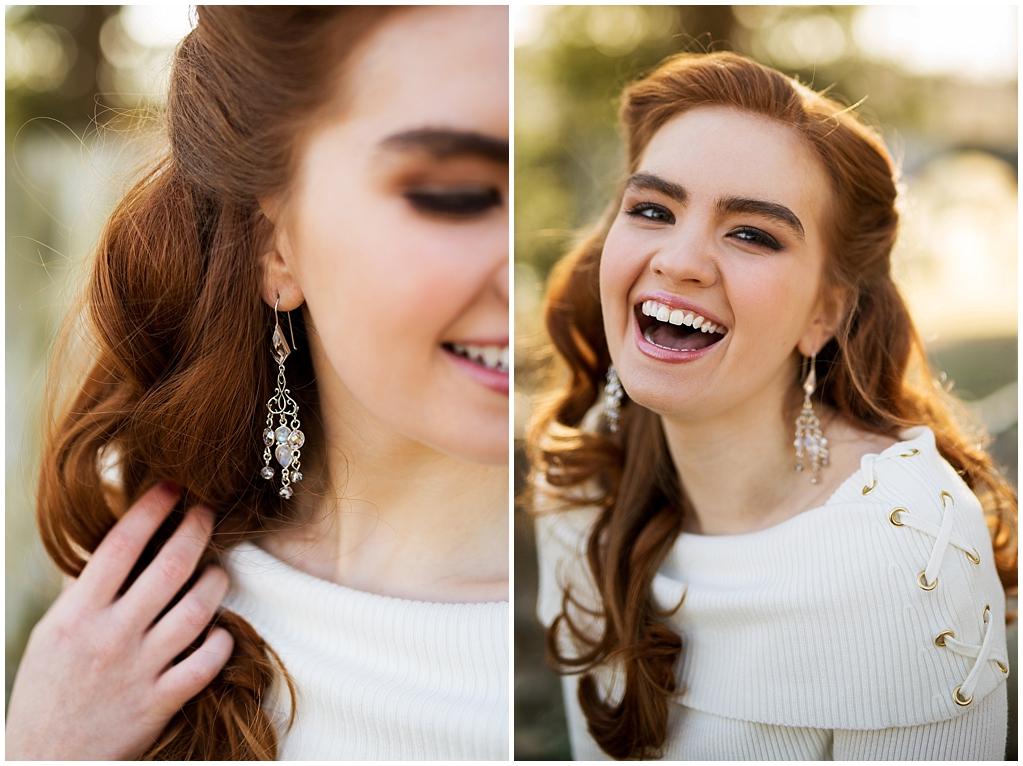 winter wedding styled photoshoot pittsburgh pennsylvania earrings