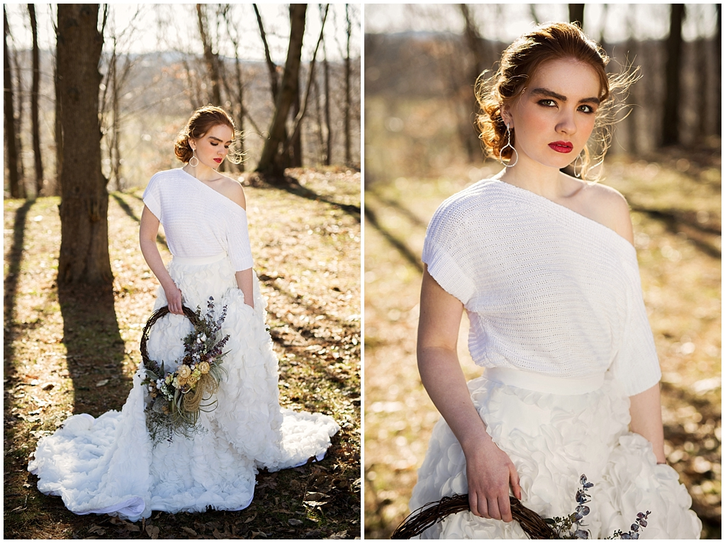 winter wedding styled photoshoot pittsburgh pennsylvania look two bride