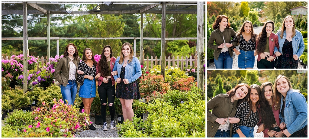 2018 Victoria Irene Photography High School Senior Representative Team Photoshoot at Tree Nursery in Delmont Pennsylvania