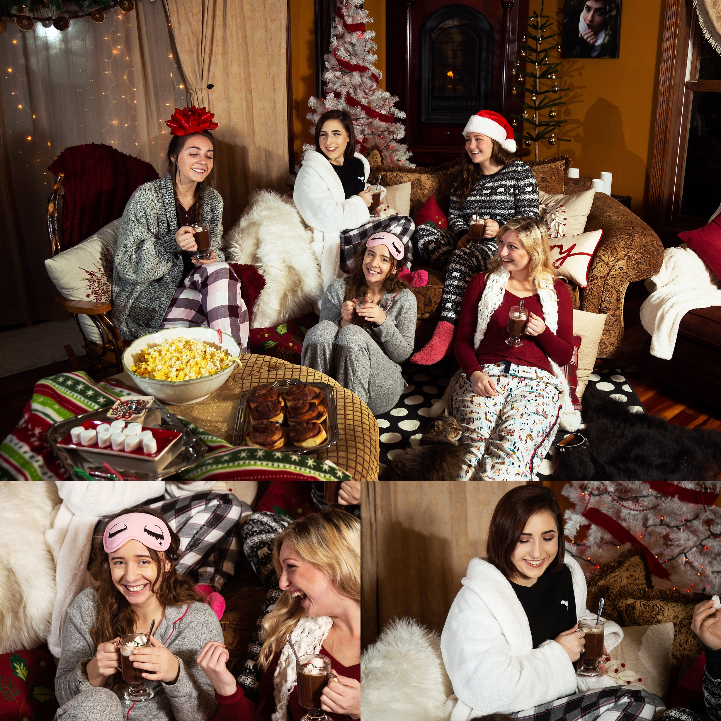 2019 VIP Representatives Christmas Party Group Pajama Photoshoot