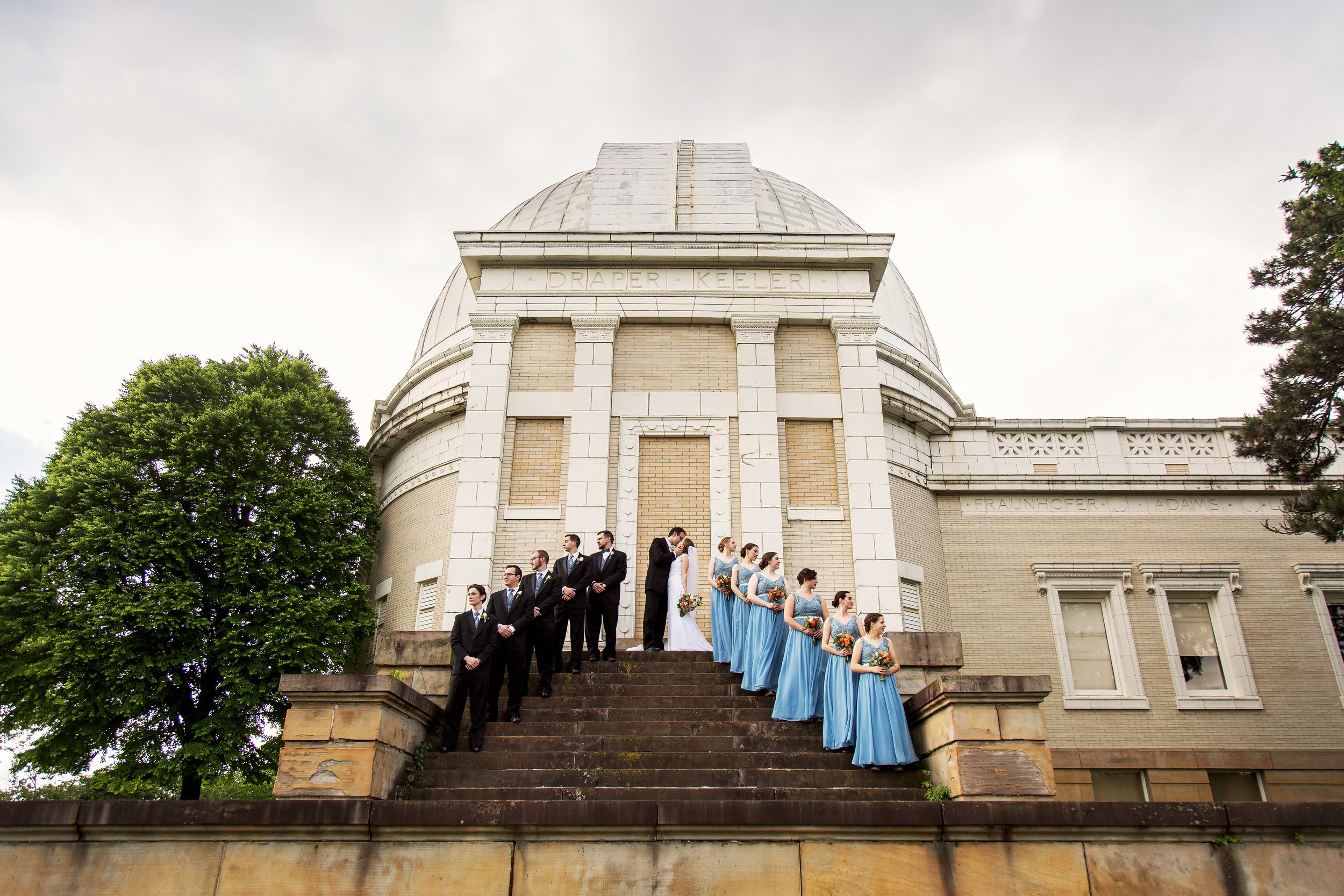Wedding Party at Allegheny Observatory
