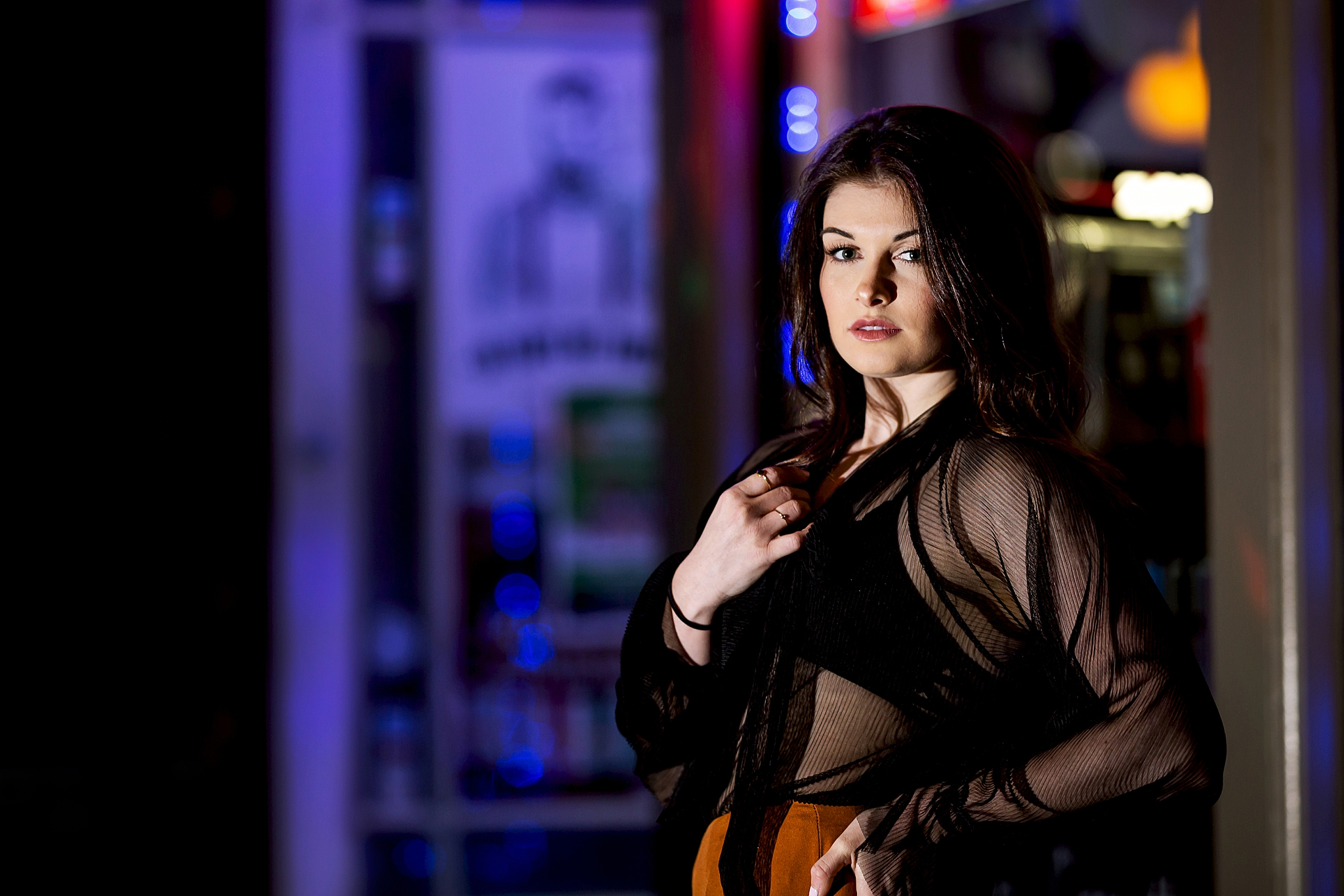 Kayla Anderson Downtown San Diego, California Nightlife Photoshoot - Victoria Irene Photography