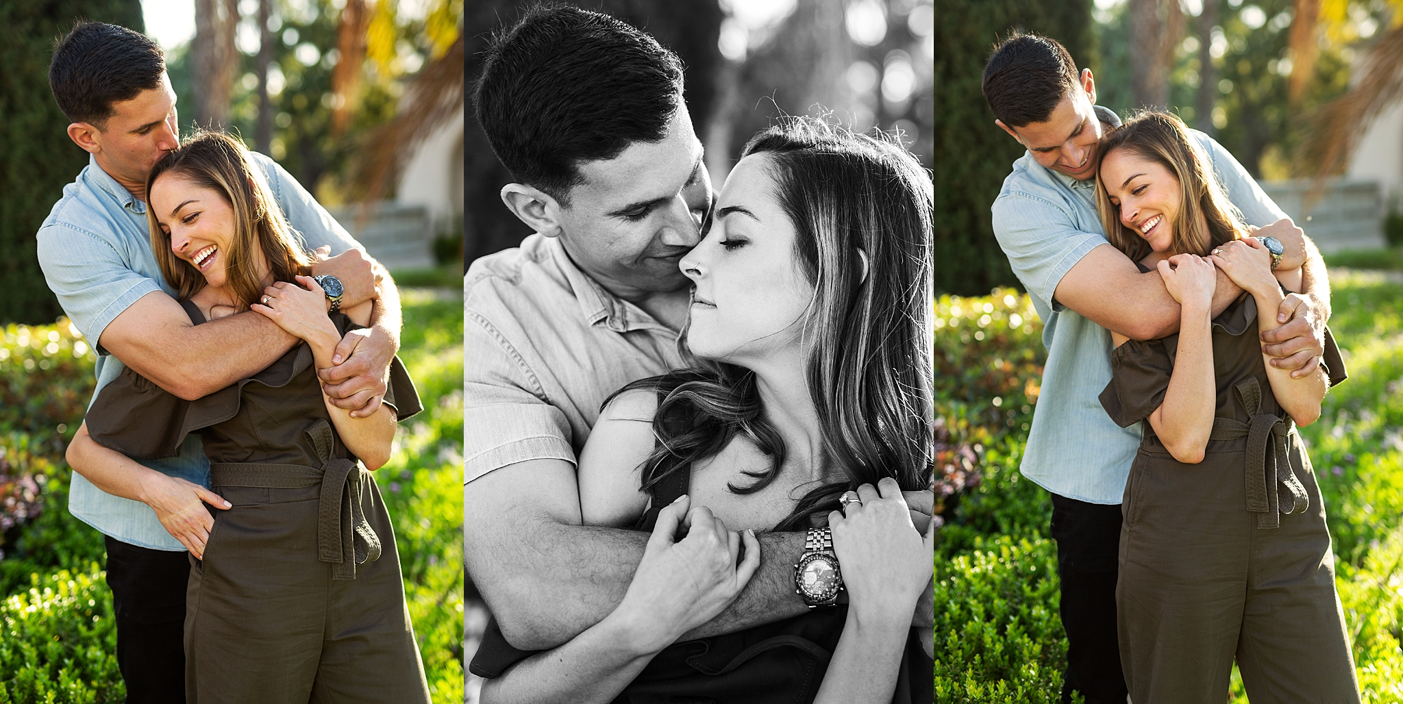 Golden hour engagement session at Balboa Park, San Diego, California with Meaghan and Eli.