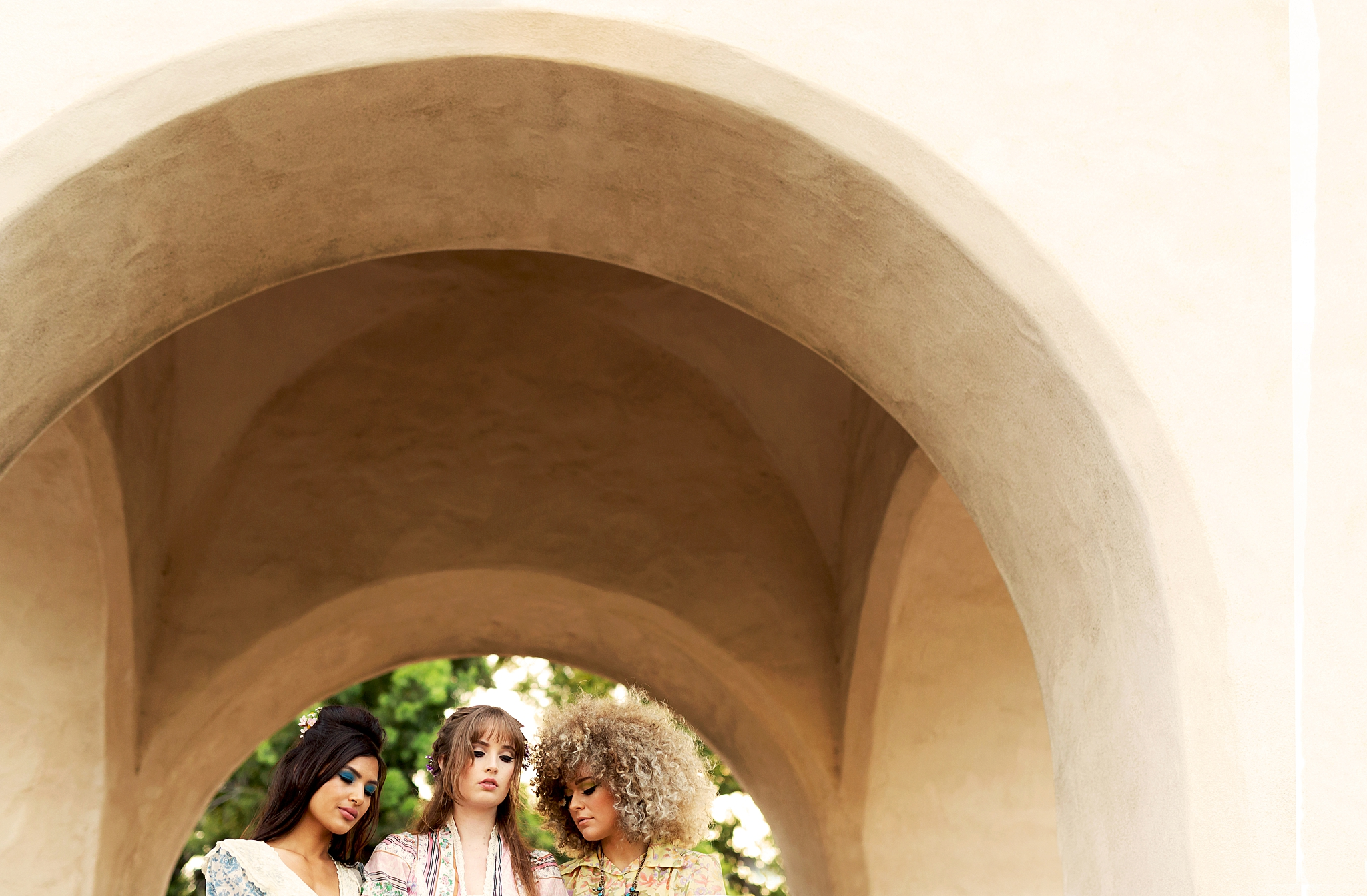 Laura Leigh, Michaela, and Ellie modeling Surrealist Vintage clothing and accessories. Taken at Balboa Park in San Diego, California.