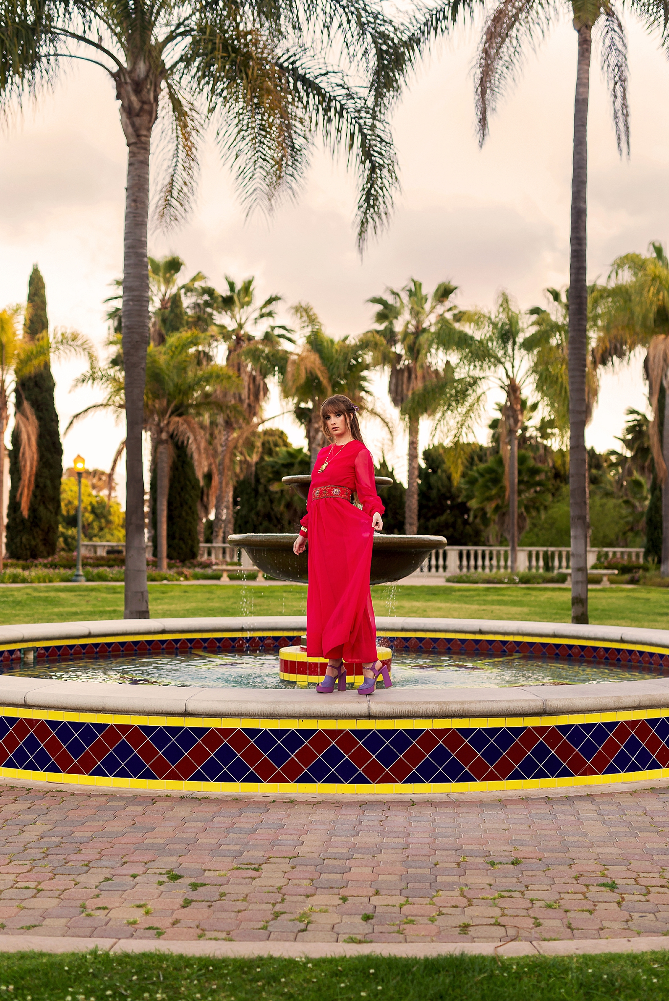 Laura Leigh Dunham modeling Surrealist Vintage clothing and accessories. Taken at Balboa Park in San Diego, California.