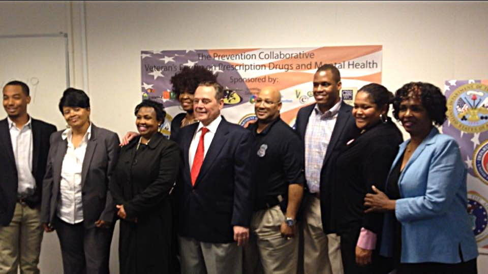 Program Director Marseille Arbuckle Jr. representing CUYFD as part of the Prevention Collaborative hosting the 2015 Veterans forum on Prescription Drug Abuse.