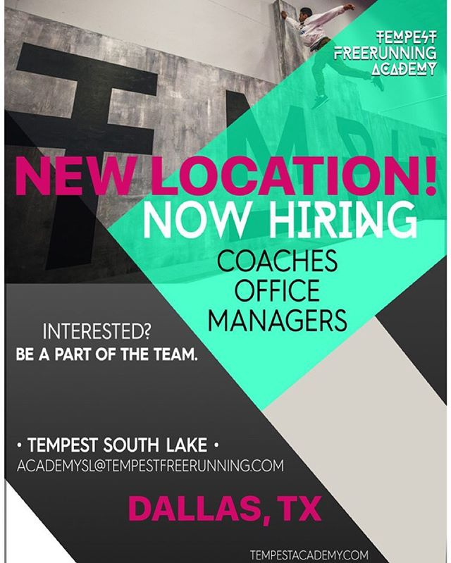 **ATTENTION DALLAS, TX** It's official! We are now hiring only the dopest human beings to be a part of our team in the first Tempest Academy location outside of California! If your interested in being a coach or working the front office in a Next Level atmosphere CLICK THE LINK IN OUR BIO! #TMPST