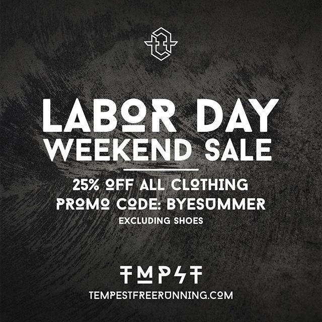 #TMPST #LaborDayWeekend #Sale @tempestfreerunning! 🔥 #parkour #Freerunning #parkourclothing #freerunfashion #streetwear #nls