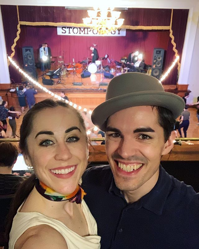 Stompology 2019! What a pleasure to attend the evening socials together, and Sam had an incredible time as a student for the weekend. Never stop learning!  #Stompology2019 #stompo @gjswing #groovejuiceswing #solojazz #vernacularjazz #swingdance #lindyhop #alwaysastudent @hatsmithe