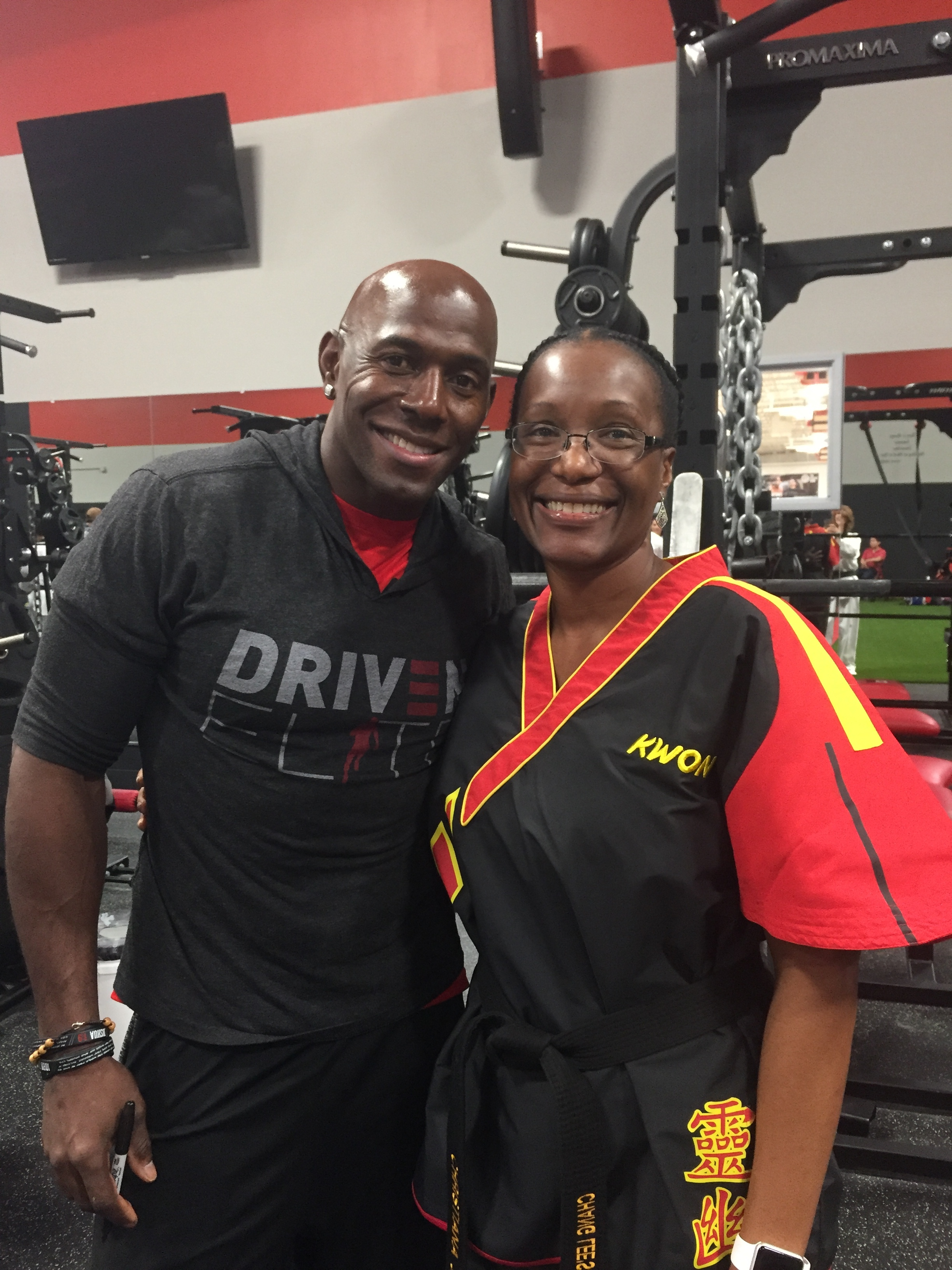With former NFL receiver Donald Driver