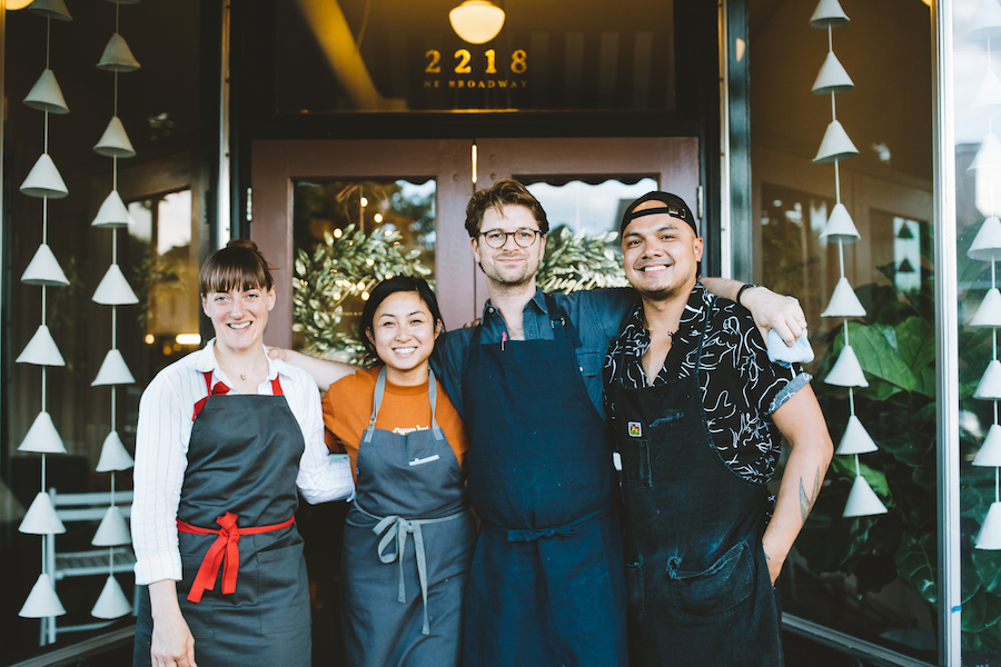 Chef Angela Pinkerton, Chef Nite Yun, Chef Nick Perkins, Chef Tom Cunanan at Hot 10 Dinner.