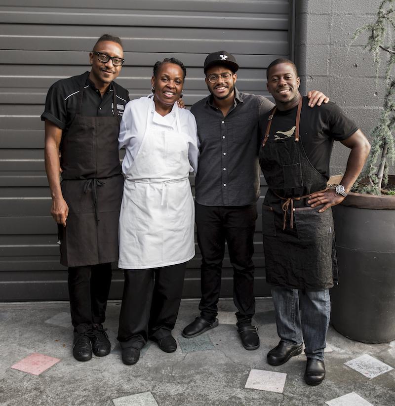Chef Gregory Gourdet, Pastry Chef Dolester Miles, Chef Kwame Onwuache, Chef Edouardo Jordan