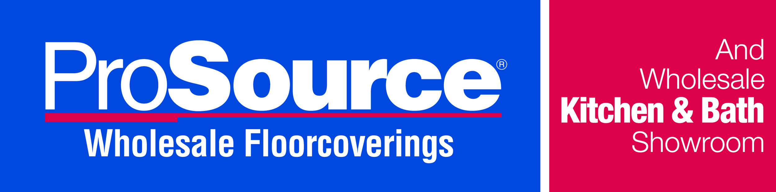 Logo for ProSource Wholesale Floorcoverings and Wholesale Kitchen & Bath Showroom