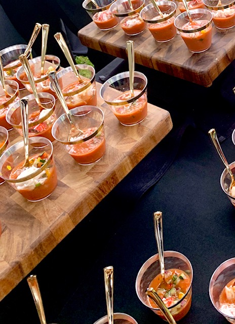 Gazpacho with king crab