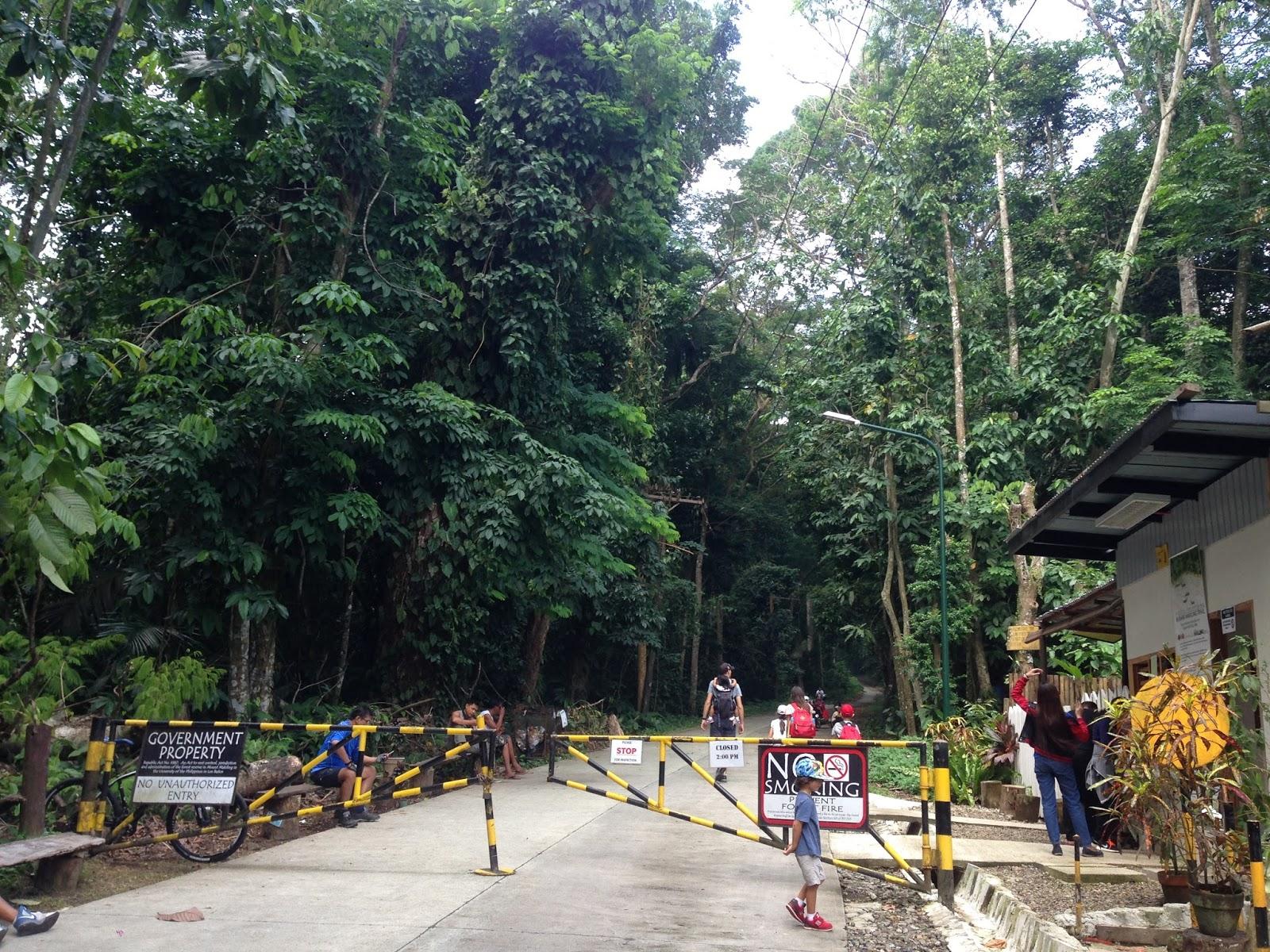 Main gate to Makiling Trail