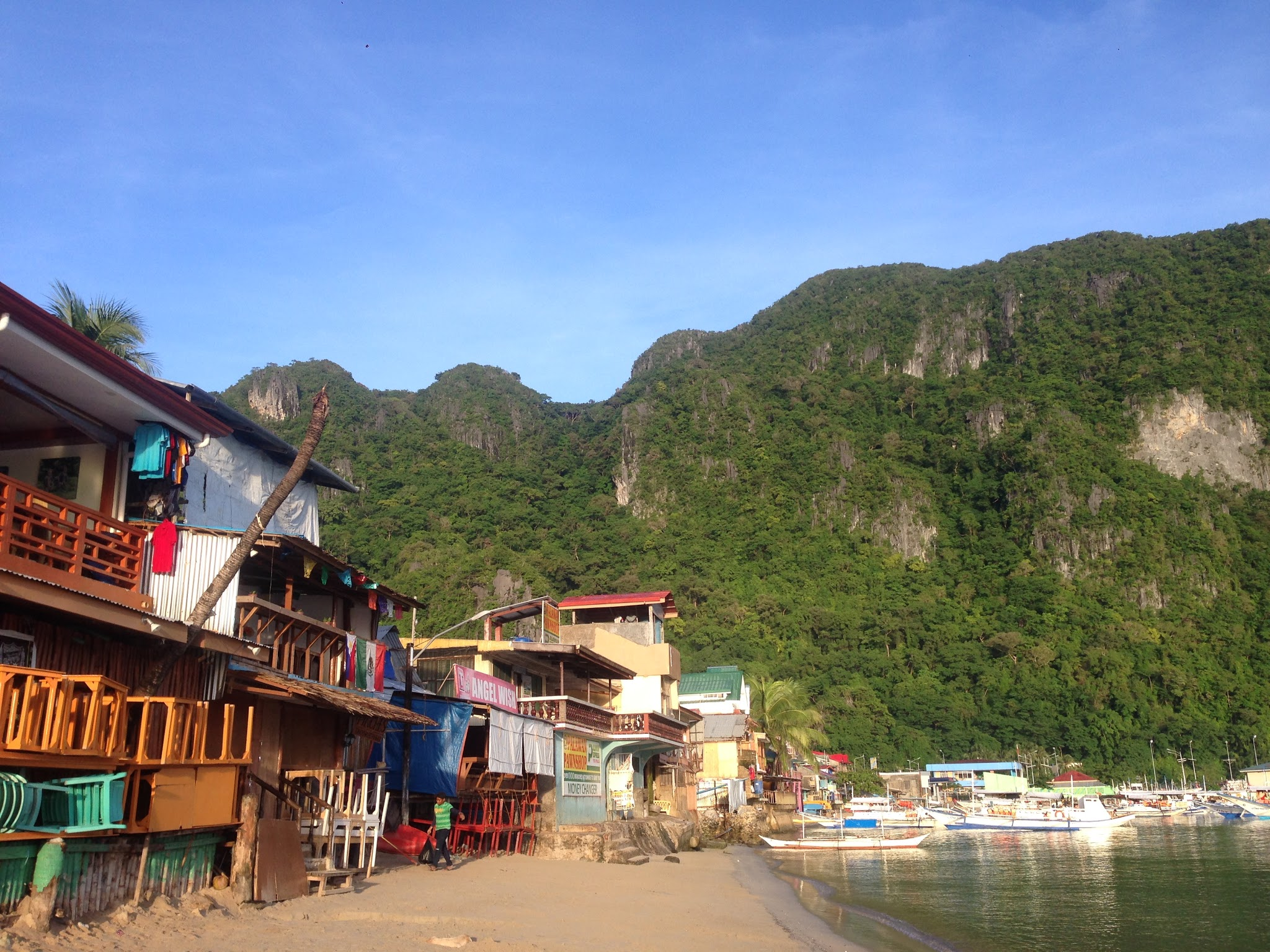 The shore at El Nido town