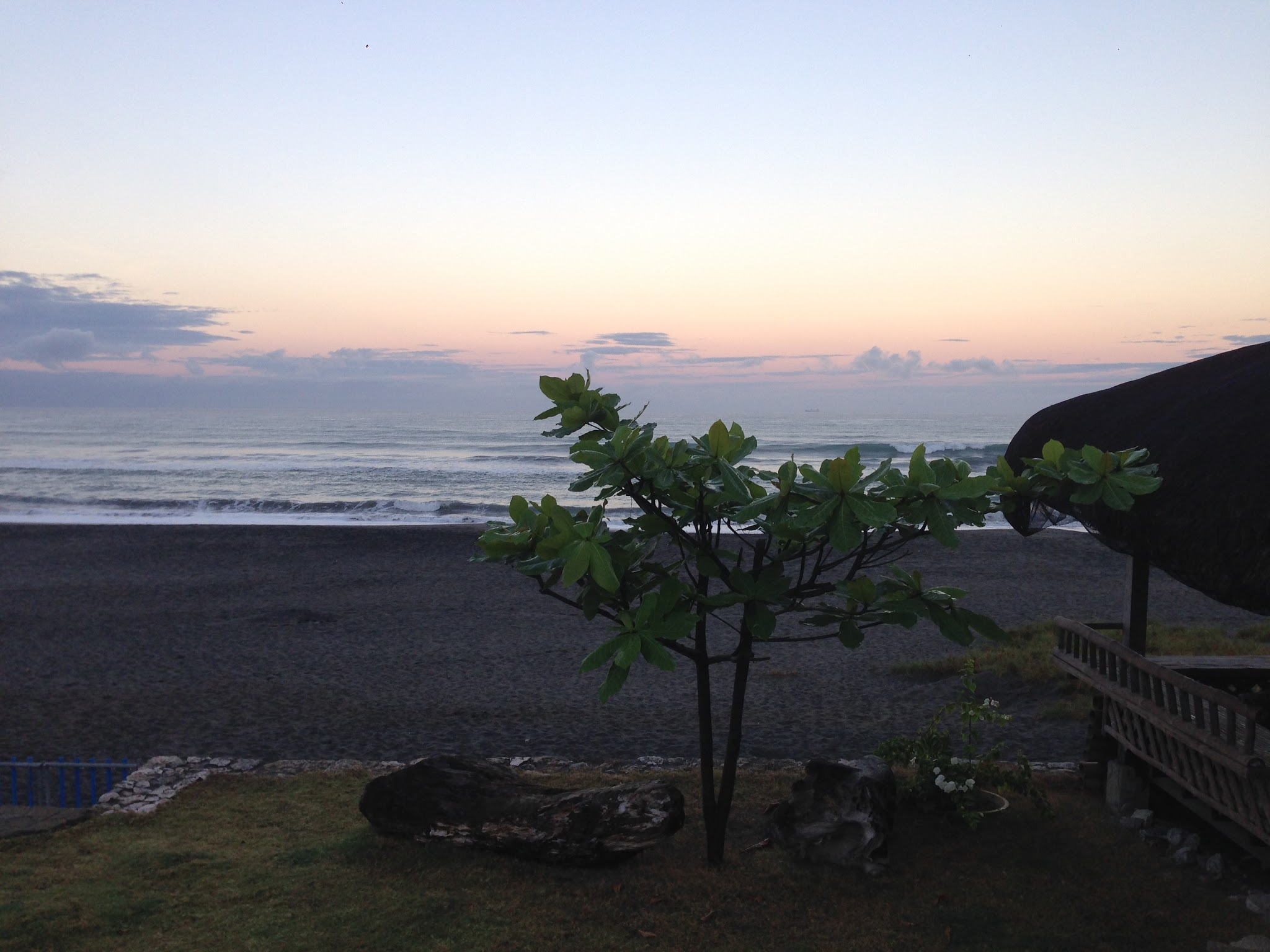 View from the house at dusk (the photos of Bacnotan beach above are from the same view)