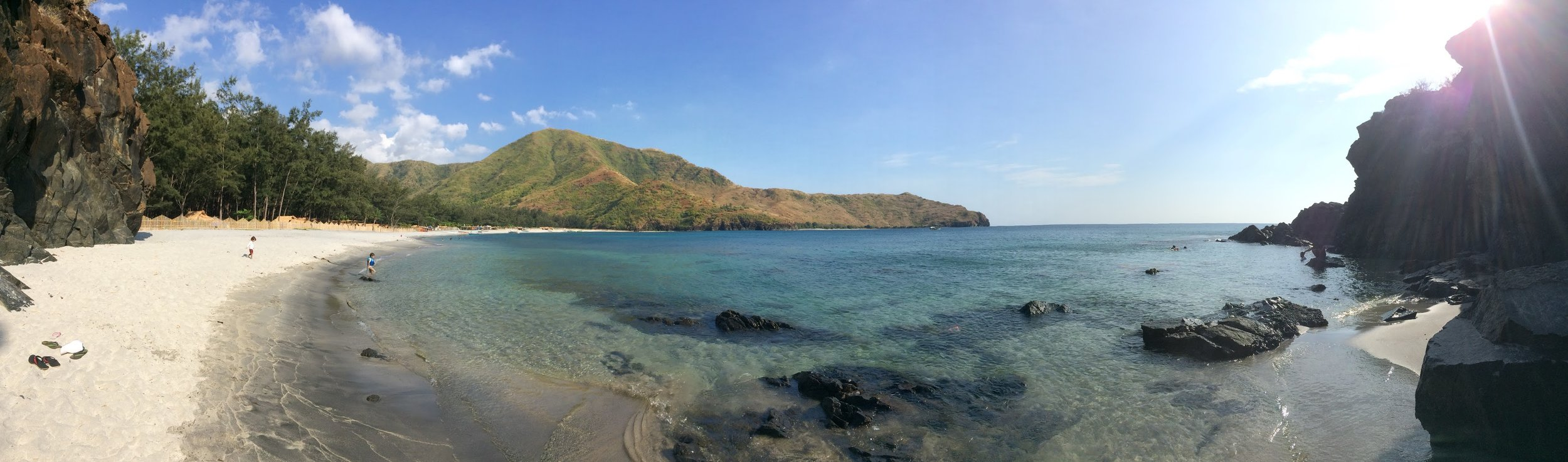 Panoramic shot at Anawangin cove