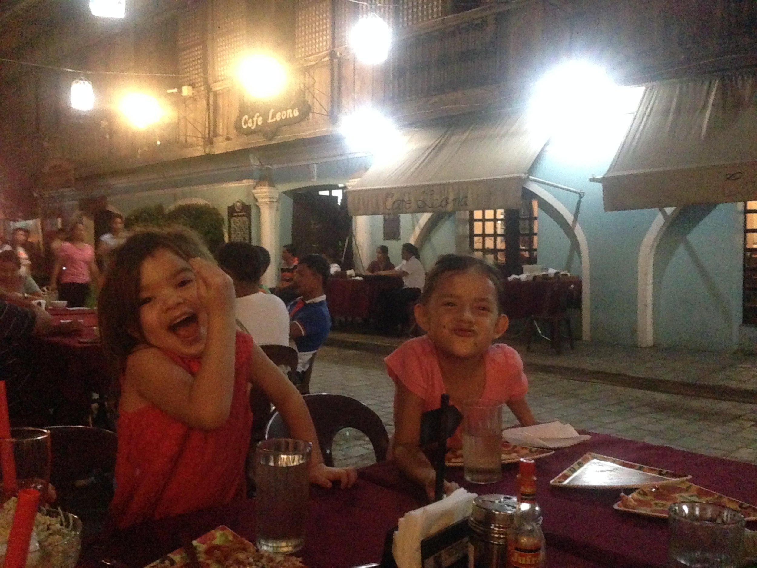 Eating at Cafe Leona