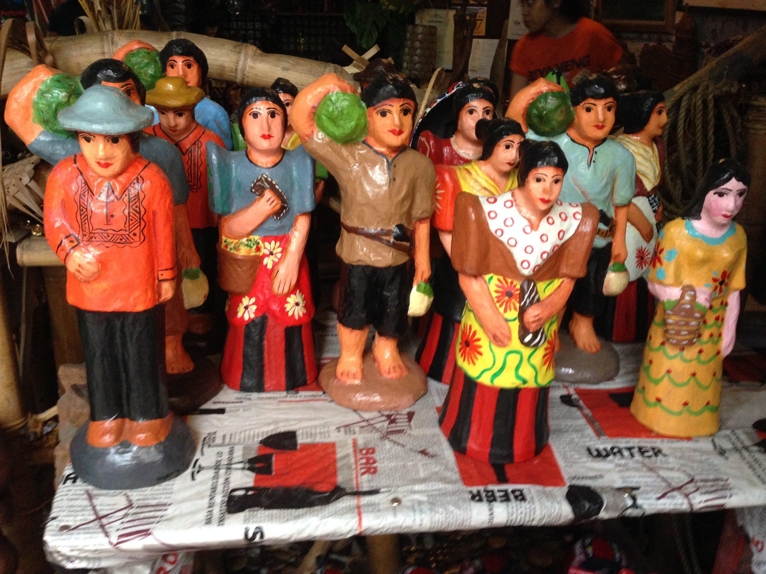 Taka dolls in native Filipino dress