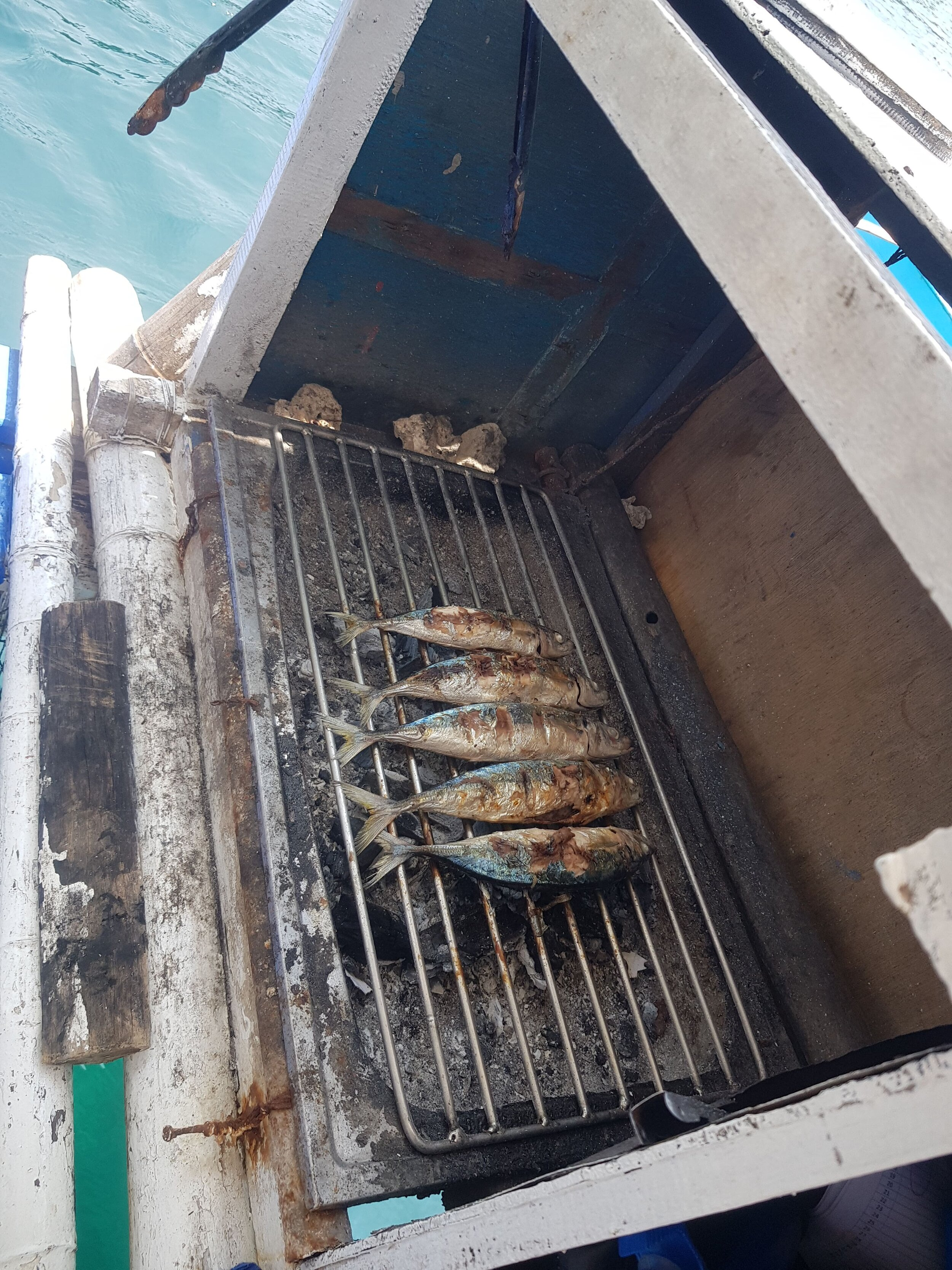 The boat staff grilled our fish for us on their grills on the boat