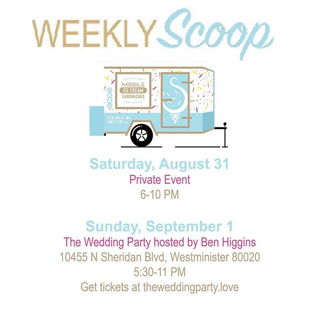 This weekend is filled with love and weddings! 💍 We are very excited for the @theweddingpartyfest this weekend! Former ABC's Bachelor @higgins.ben will be officiating the wedding for 9 lucky couples! You can get your tickets at theweddingparty.love 💒👰🏻🤵🏻💍🍪🍦