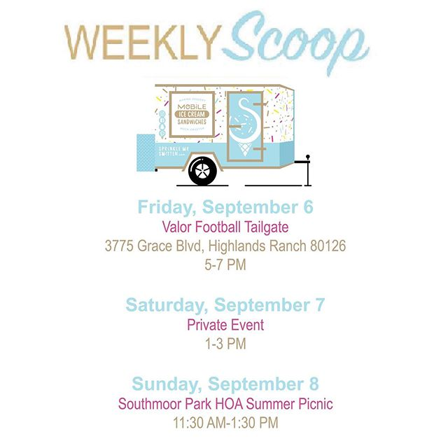 This will be our last ice cream filled weekend for a few weeks! 🍦🍪💓 It may seem crazy, but we are already starting to book up for next summer! It isn't too late to get your date on our calendar! Visit us online at sprinklemesmitten.com/eventsandcatering 📆