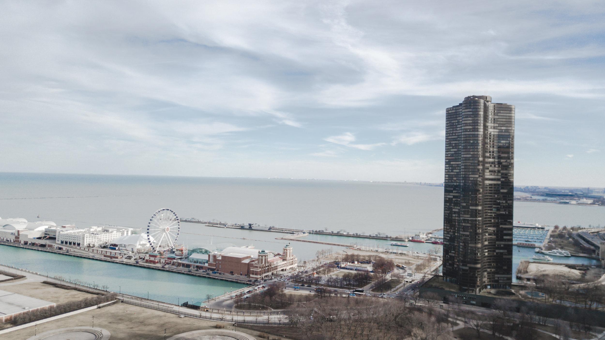 Looking over Navy Pier.