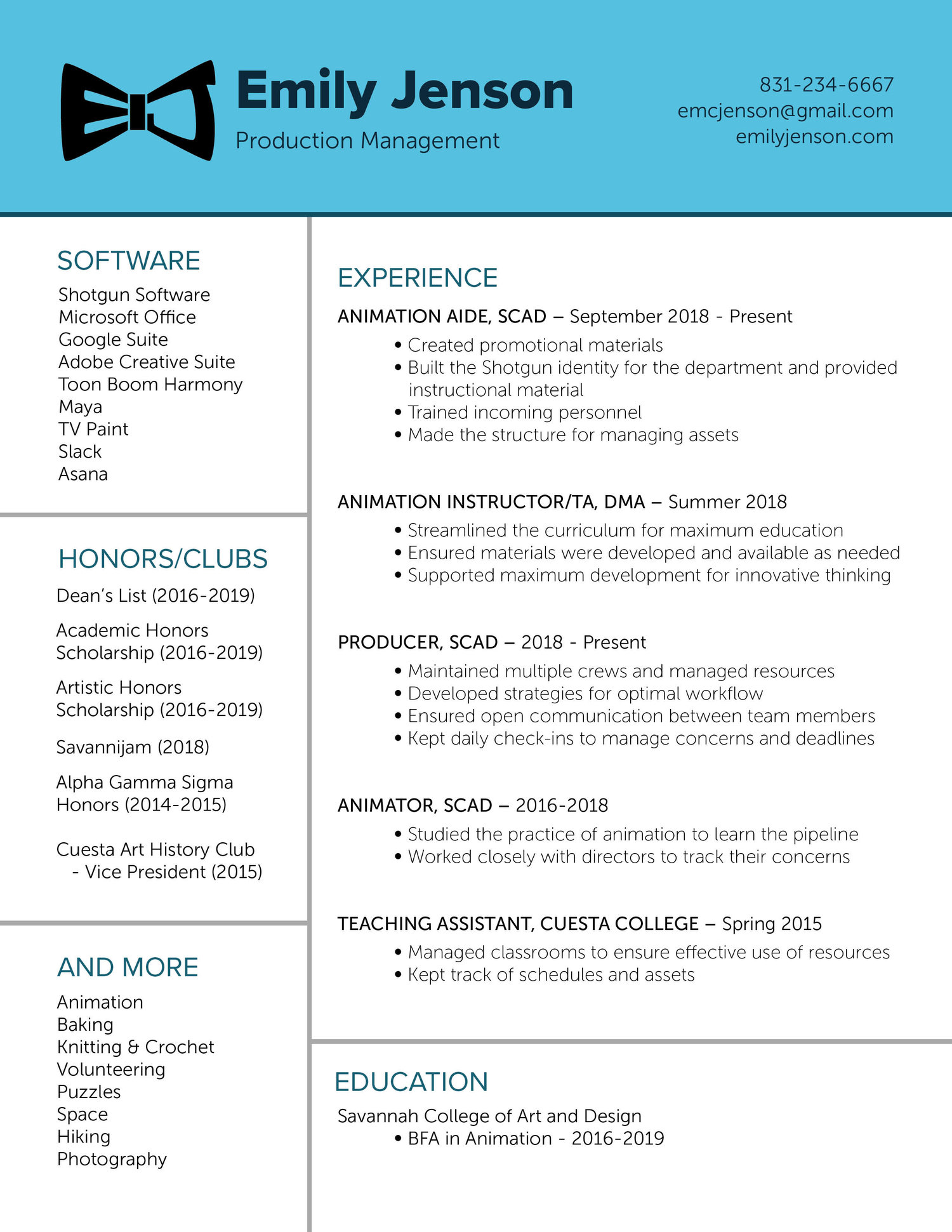 Resume — Emily Jenson