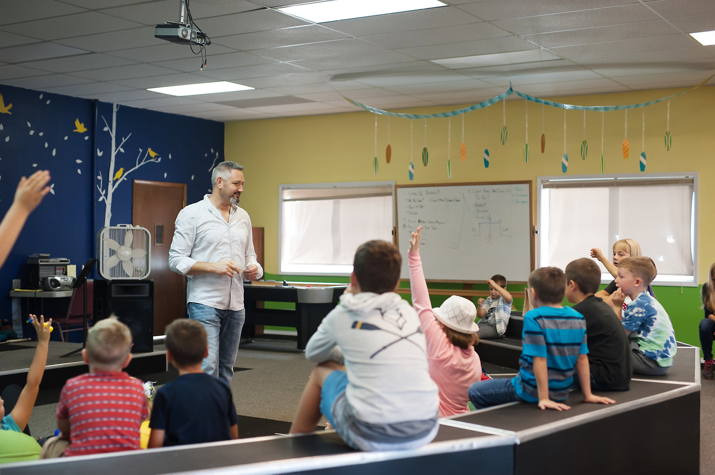 What is there for kids? - We have a great kids' program (C3 Kids) for children from birth through 5th grade! Our nursery and toddler rooms are located at the west end of the building, closer to the sanctuary and office areas. Kids in preschool through 5th grade meet in our