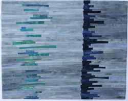 "Balance #17 18""x23"" - cotton, dye, thread"