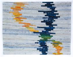 "Balance #18 21""x17"" - cotton, dye, thread"