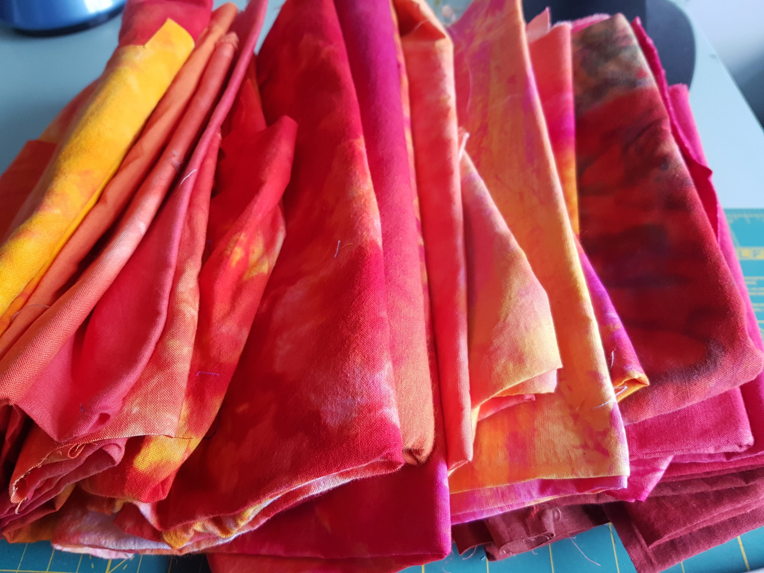 Slow cloth...hand dyed, hand marked, hand painted