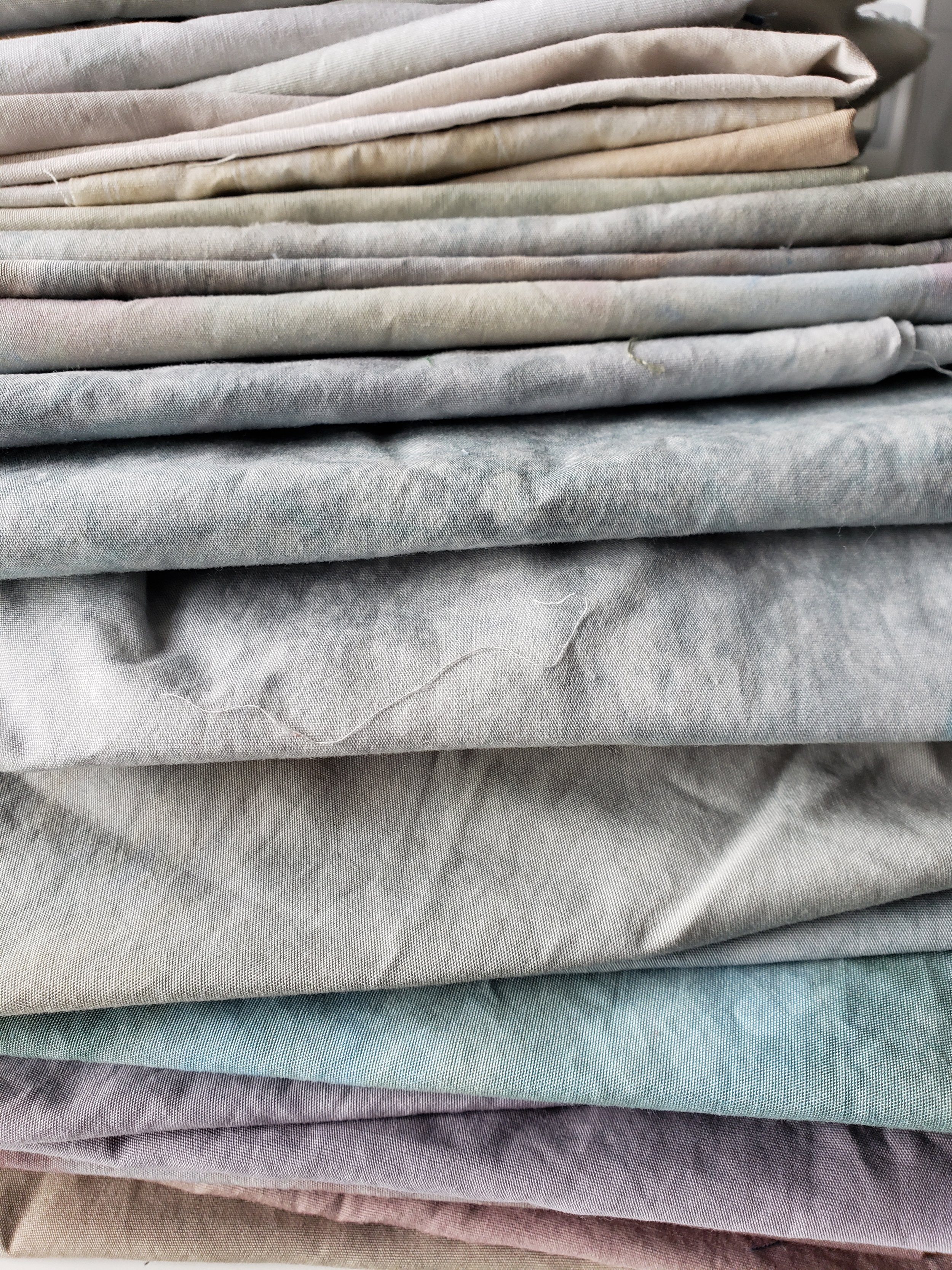 Slow cloth...hand dyed, hand marked, hand painted....the starting palette