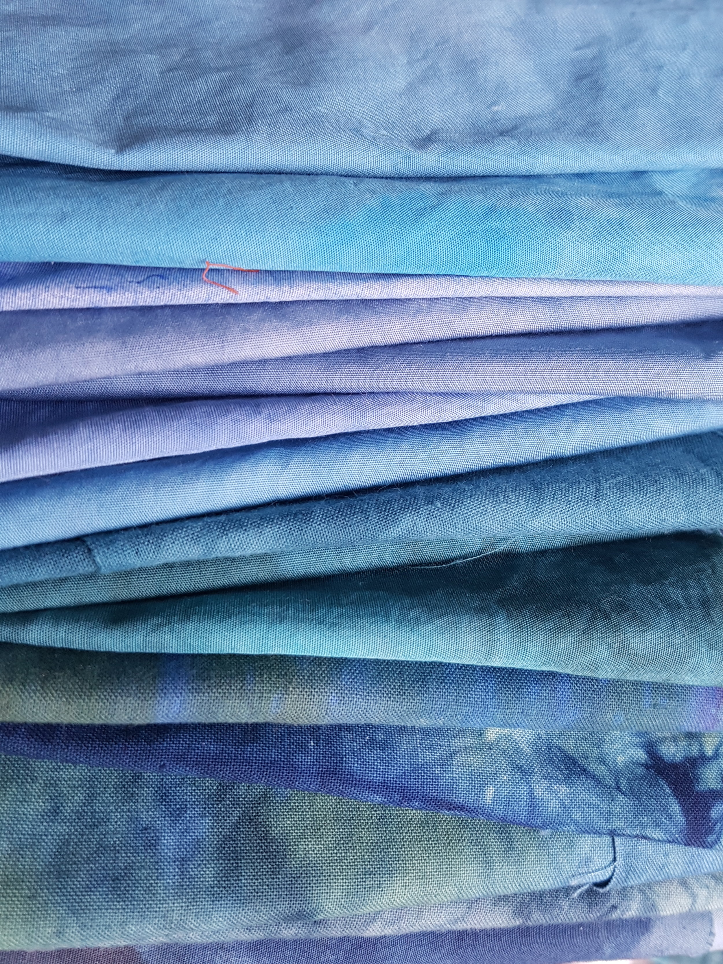 Slow cloth...hand painted...hand marked...hand dyed...palette