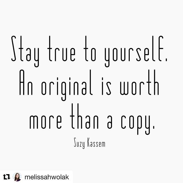 We love following + reading all the inspiration and wisdom @melissahwolak continues to share ✨! #authenticity #staytruetoyourself #saturdayvibes 💙💙💙