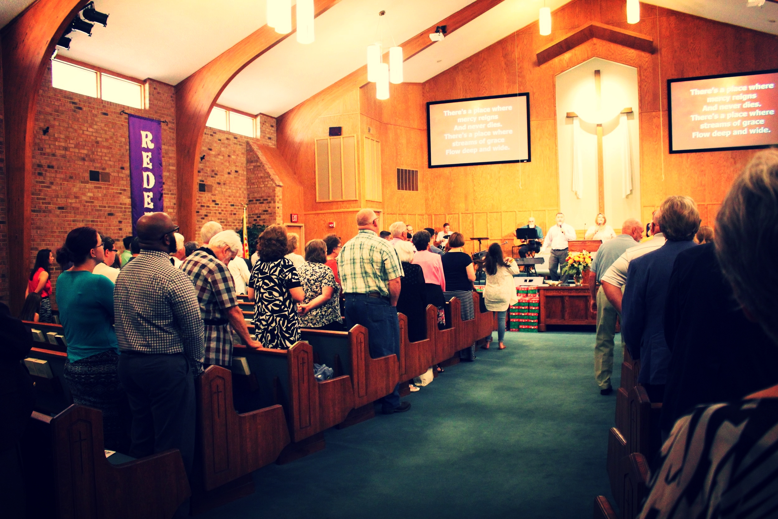 Worship - We gather weekly for a worship service that proclaims Jesus and challenges believers to take the Gospel to their neighbors, families, and the nations.