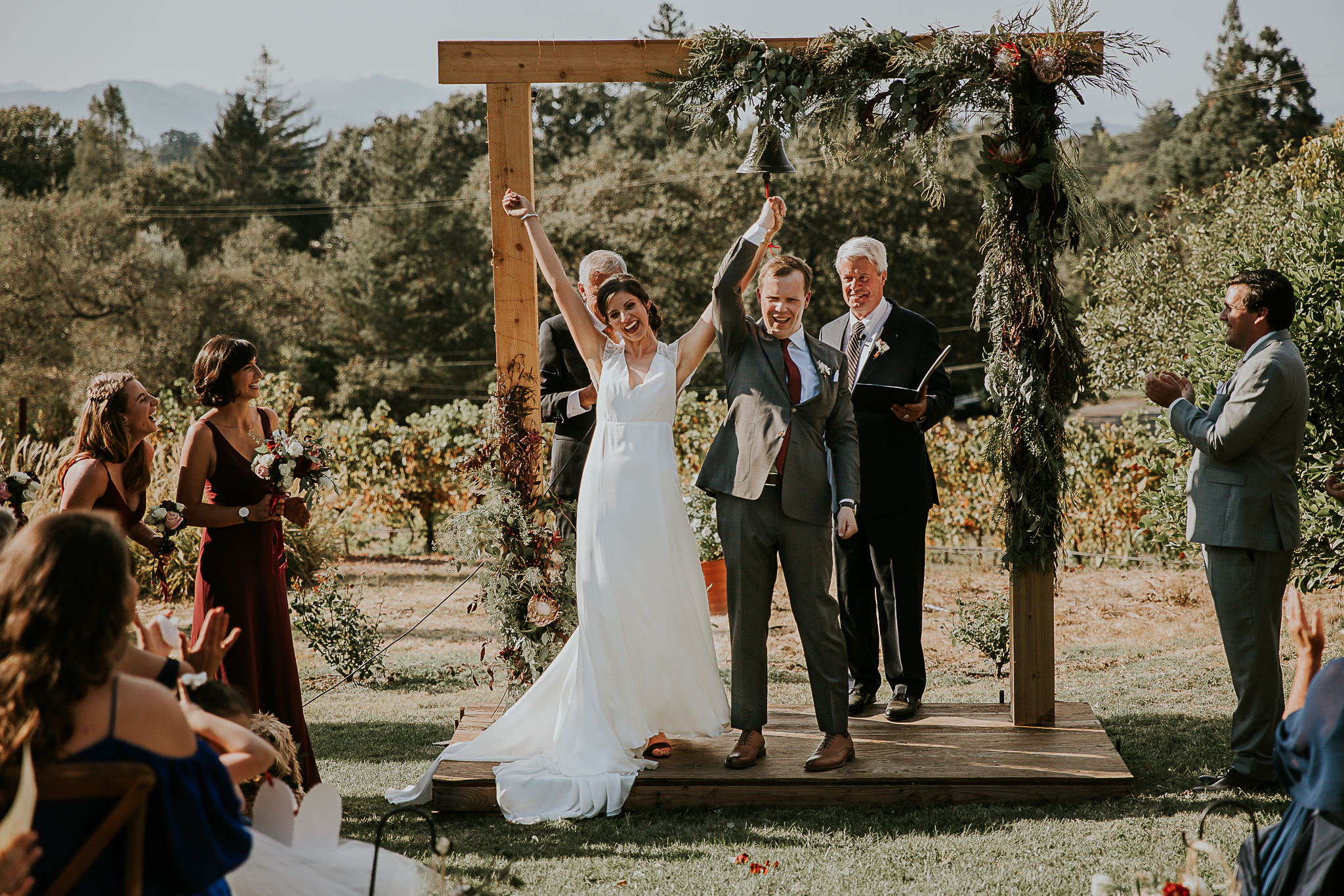 Back yard wedding in napa