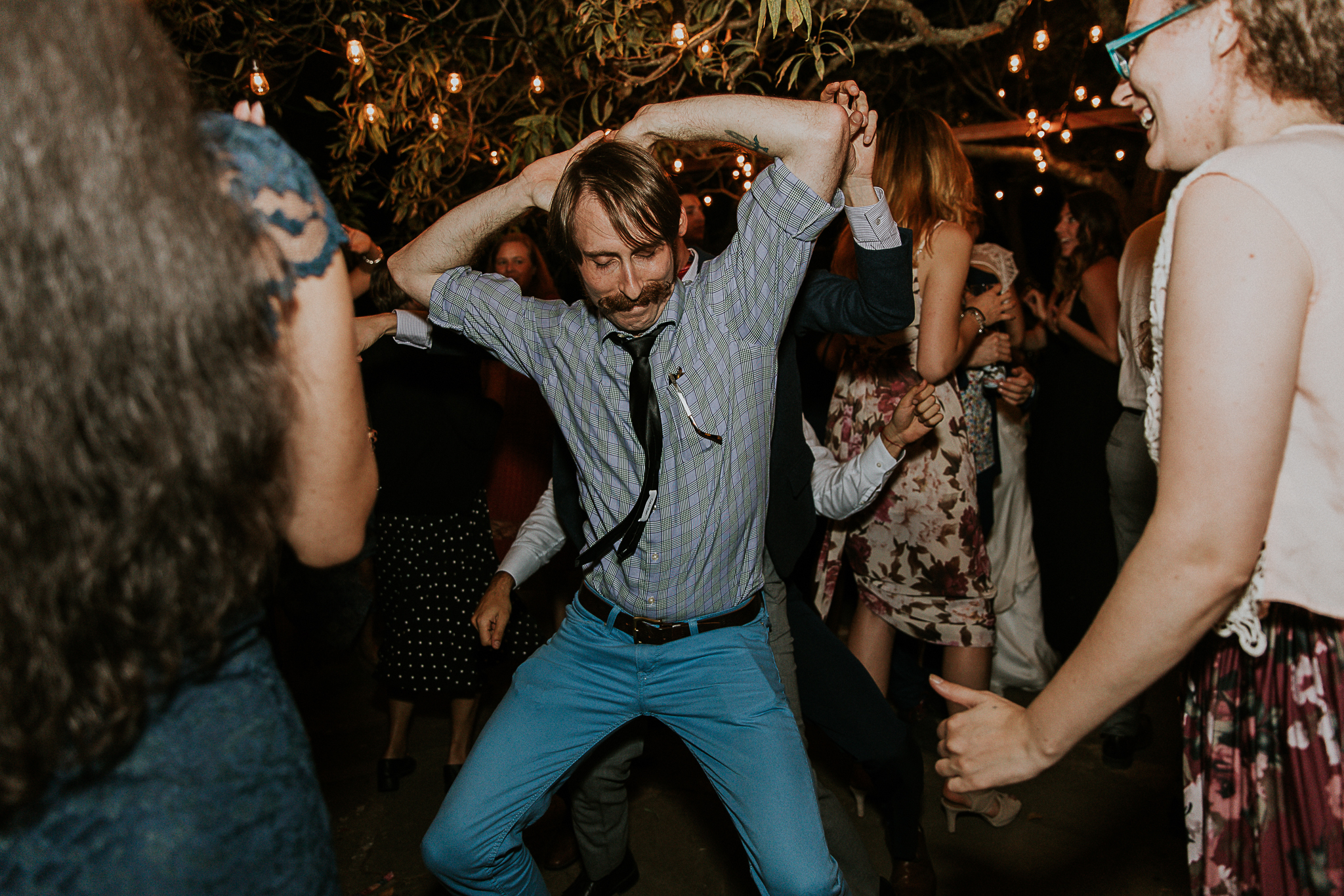 hipster getting down on dance floor