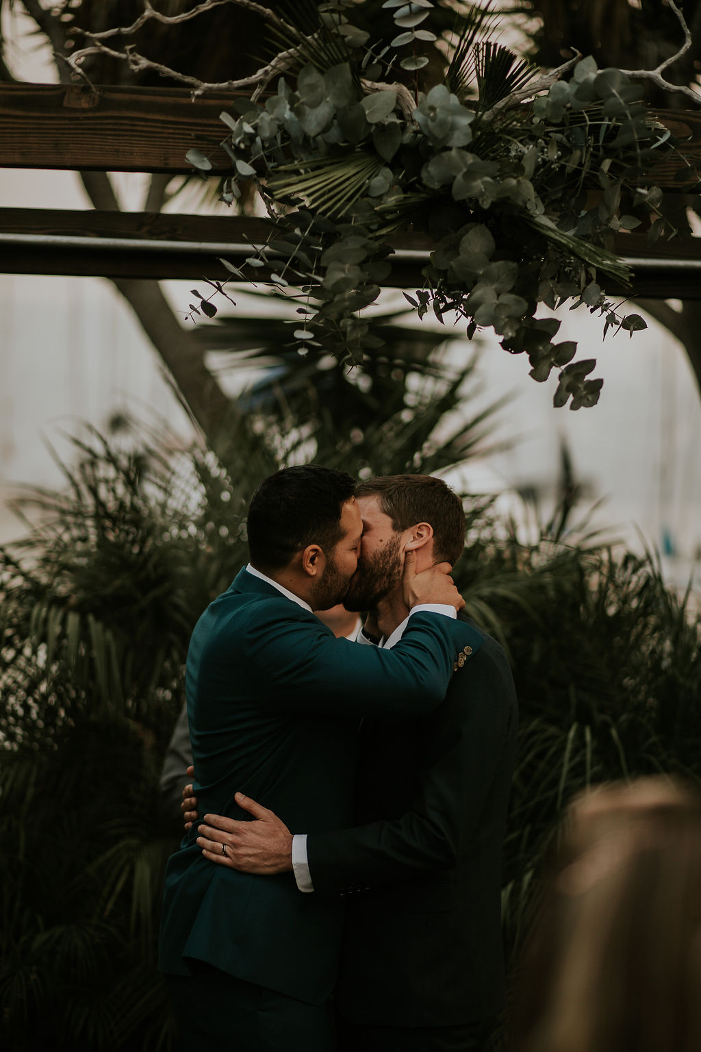 Same Sex Wedding at the Light House in Glen Cove Marina